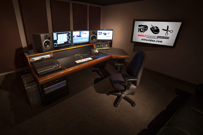 Video editing studio with Avid and Final Cut Pro